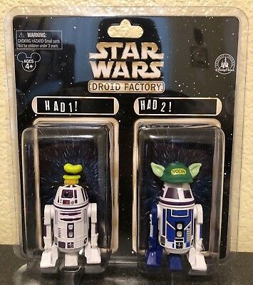 Disney Parks Star Wars Droid Factory The Last Jedi R4-X2 Y5-X2 Goofy and Yoda