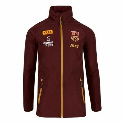 QLD Maroons Origin 2018 ISC Players Wet Weather Jacket Sizes S-2XL!