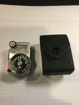 = Sekonic Micro Clip On Hot Cold Shoe External Light Meter & CASE VINTAGE Asis