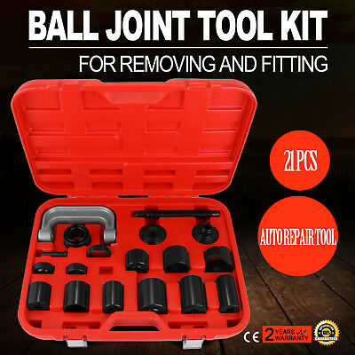 21PCS Ball Joint Adapter Set Remover Installing Tool Kit Poly Basic Wide