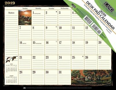 2019 Desk Pad Calendar - Terry Redlin by Lang - Monthly -  NEW, Post Paid