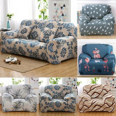 1-4 Seater Elastic Stretch Furniture Sofa Slip Covers Farmhouse Style Armchair