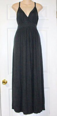 Liz Lange For Target Maternity Maxi Halter Dress Size Small Black Jersey Knit