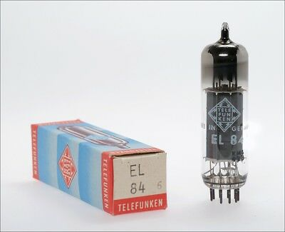 EL84 6BQ5 NOS Siemens Telefunken in box audio tube -> TOP tested !