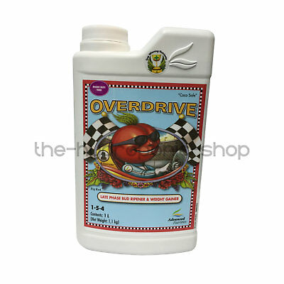 Advanced Nutrients Overdrive 1L - Plant Feed Flower Bloom Enhancer