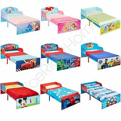 Kids Junior Toddler Bed + Mattress Options - Disney Cars Frozen Pj Masks & More