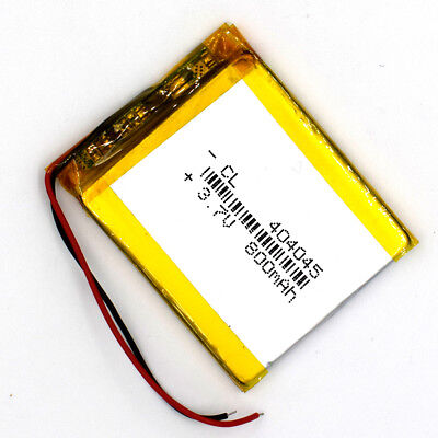 3.7 V 800mAh 404045 Li-Polymer Rechargeable Battery Liion LiPo Cell for GPS MP3