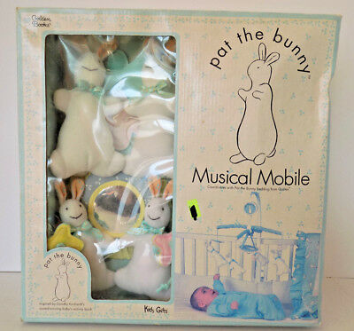 NIB RARE Pat The Bunny Book Musical Mobile