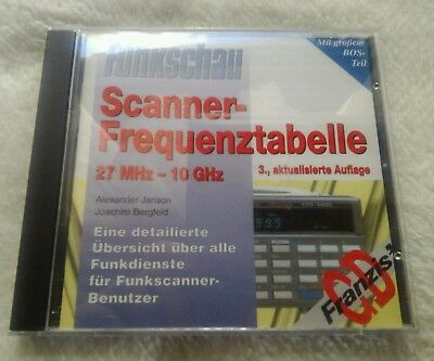 Funkschau-Scanner-Frequenztabelle 27 MHz-10 GHz *CD-ROM*