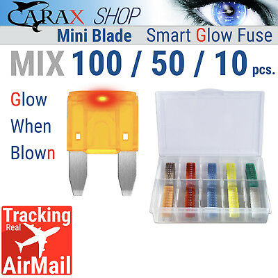 Fuses MINI small size blade smart ATO ATC APM LED indicator GLOW WHEN BLOWN MIX