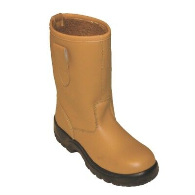 Tan Fur Lined Steel Toe Safety Rigger Work Boot with Steel Midsole 3-13