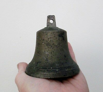 Antique Marine Brass or Bronze Ships Bell - With Original Clanger - Loud Ring