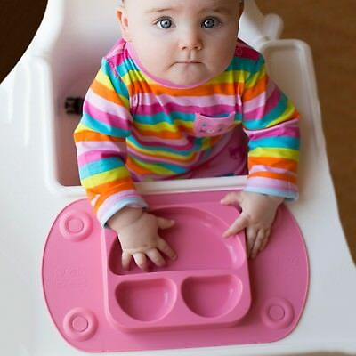 Silicone Baby Food Mat Kids Plate Child Tray Non-stick Lunchbox Lid Mini EasyMat