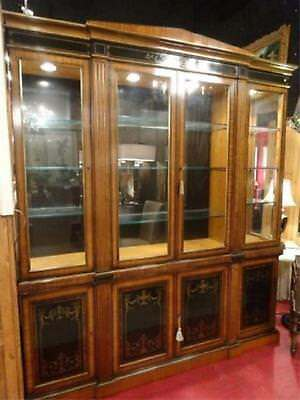 Amazing quality breakfront Bookcase or Display Cabinet Neo Classical Style