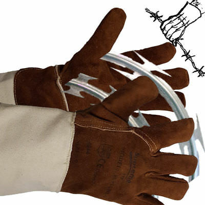 Razor Barbed Wire Gauntlet Cut 5 Puncture Resistant Gloves protection Wall Spike