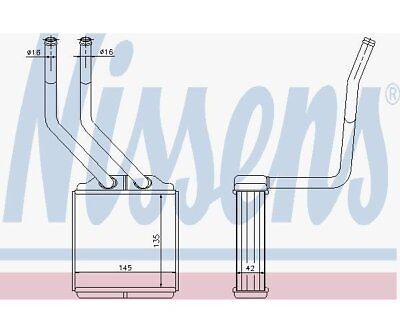 Heat Exchanger, Interior Heating Nissens 71776