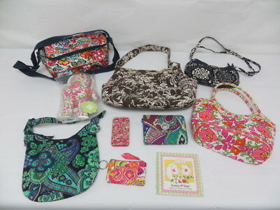 Pre-Owned Vera Bradley Mixed Lot 4 Handbags, 1 Lunchbag, 2 Wallets, Bunny & Book