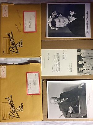 Mamie Eisenhower Signed And Dwight Eisenhower Photograph Unsigned