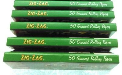 New - Lot 0F 5 X  Pack Of 50  Zig-Zag - (Cut Corners) Rolling Papers