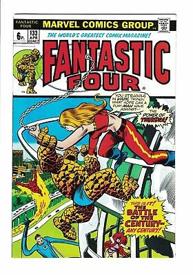 Marvel Comic Fantastic Four No 133 April 1973