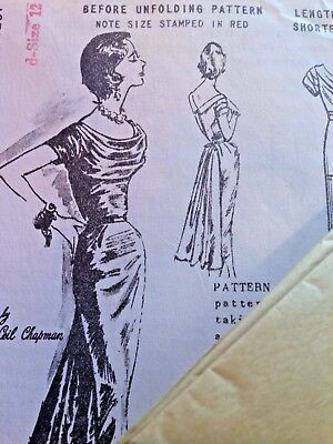 Spadea Ceil Chapman American Designer's Sz 12 Evening Dress Pattern