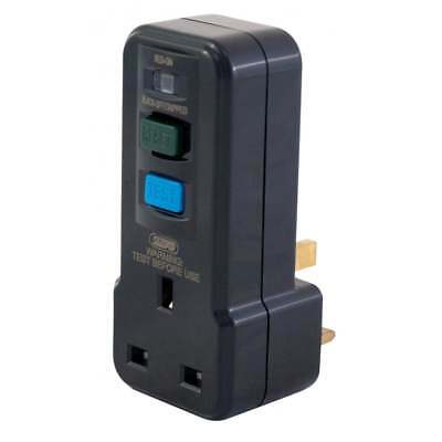 RCD Trip Switch 13 Amp Plug In Socket Circuit Breaker Test Reset LED Black 13A
