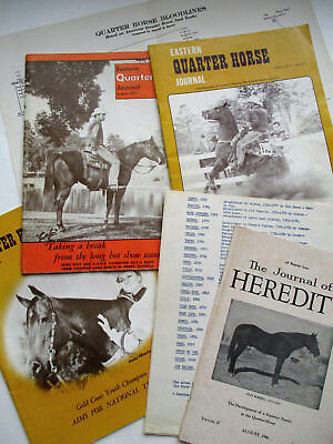 1946 QUARTER HORSE Heredity Journal 1970's Eastern QH JJOURNALS Bloodline Charts