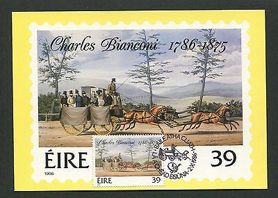 IRLAND MK 1986 KUTSCHEN PFERD HORSE CHEVAL MAXIMUMKARTE MAXIMUM CARD MC CM d5149