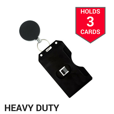 Badge Card Reel Holder Id Retractable Name Clip Belt Key Nurse Tag Heavy Duty