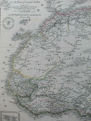 Northern Africa Mts. of Moon large detailed 1828 Brue fine large folio old map