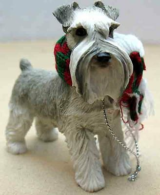 Sandicast Schnauzer,gray, Uc Ears Standing Ornament  Item Xso14104