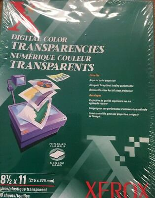 XEROX Digital Color Transparencies 3R5765 50 Sheets 8.5x11 Sealed Box