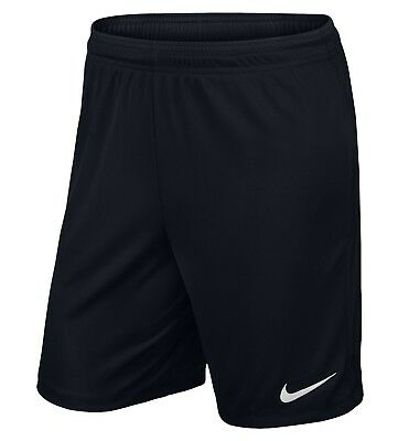 Nike Mens Park Football Short Gym Training Shorts Dri Fit Short Black MEDIUM