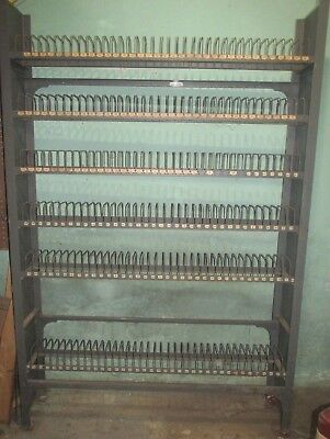 "Vintage Metal Wire Library Shelf 16mm NEUMADE Film Rack 73"" high 48"" wide"