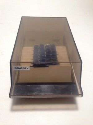 Rolodex covered card file case  Model No. VIP 24C vintage