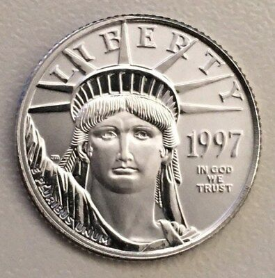 1997 American Platinum Eagle $10 Coin 1/10 troy oz .9995 Pure Fine First Year