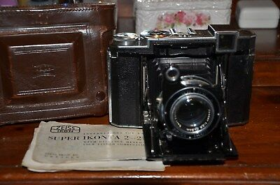Vintage Zeiss Ikon Super Ikonta 532/16 Camera with Case, Instructions