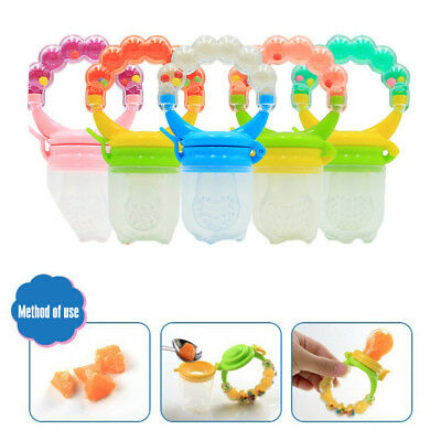 Baby Toddle Infant Feeding Pacifier Soother Dummy Fruit Food Feeder Bite Nipple