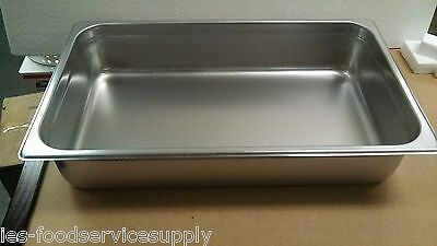"(Lot Of 6) Full Size 4"" Deep Stainless Steamtable Pans Hot Food Table Steam Pans"