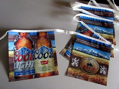 28' Coors Banquet Official Beer Sponsor PRCA Rodeo flag string banner sign T=43