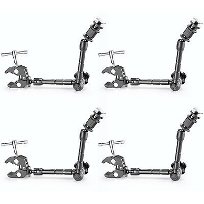 """Neewer 4pcs 11""""Friction Power Articulating Magic Arm and Clamp Crab Pliers Clip"""