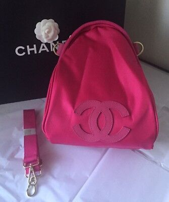 "New Chanel VIP ""Hot Pink"" Nylon Backpack Bag"
