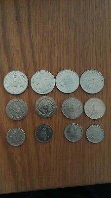 JOB LOT 12 COINS 20p 10p and 5p NICE LOT