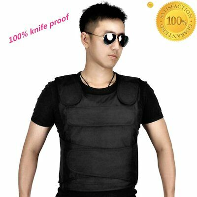 Safe Anti Stab Armor Vest Self Defense knife Proof Body protect Level Army M UK