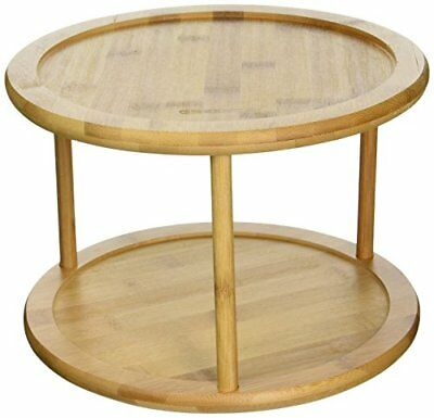 Lazy Susan Spice Rack Gorgeous LAZY SUSAN 60 Tier Turntable Bamboo Spice Rack Kitchen Spin Food