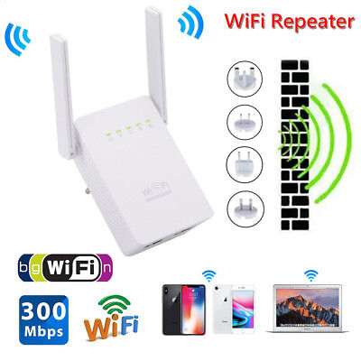 300Mbps Wifi Repeater Wireless-N Range Extender Network Router Signal Booster