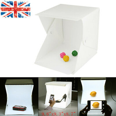 Mini Portable Photo Studio Lighting Box Photography Backdrop LED Light Room Tent
