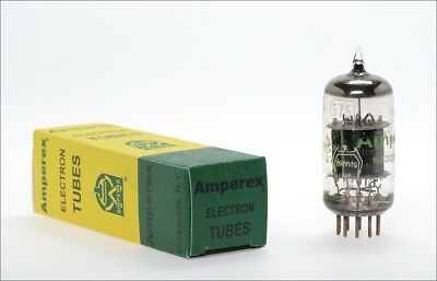 5751 Amperex audio tube with german military logo -> TOP tested !