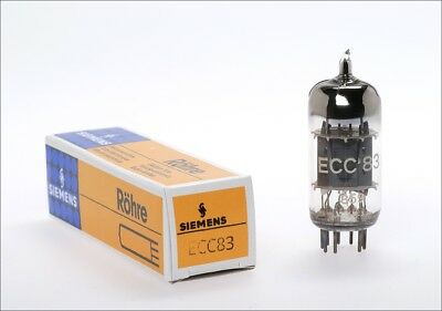 ECC83 12AX7 Siemens NOS double getter support audio tube -> tested !