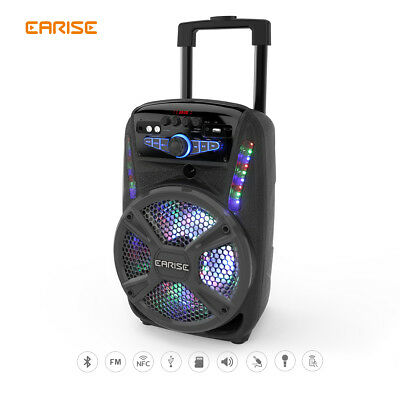 EARISE V15-D/V16-D Audio PA System LED Bluetooth Speaker w/ Wireless Microphone